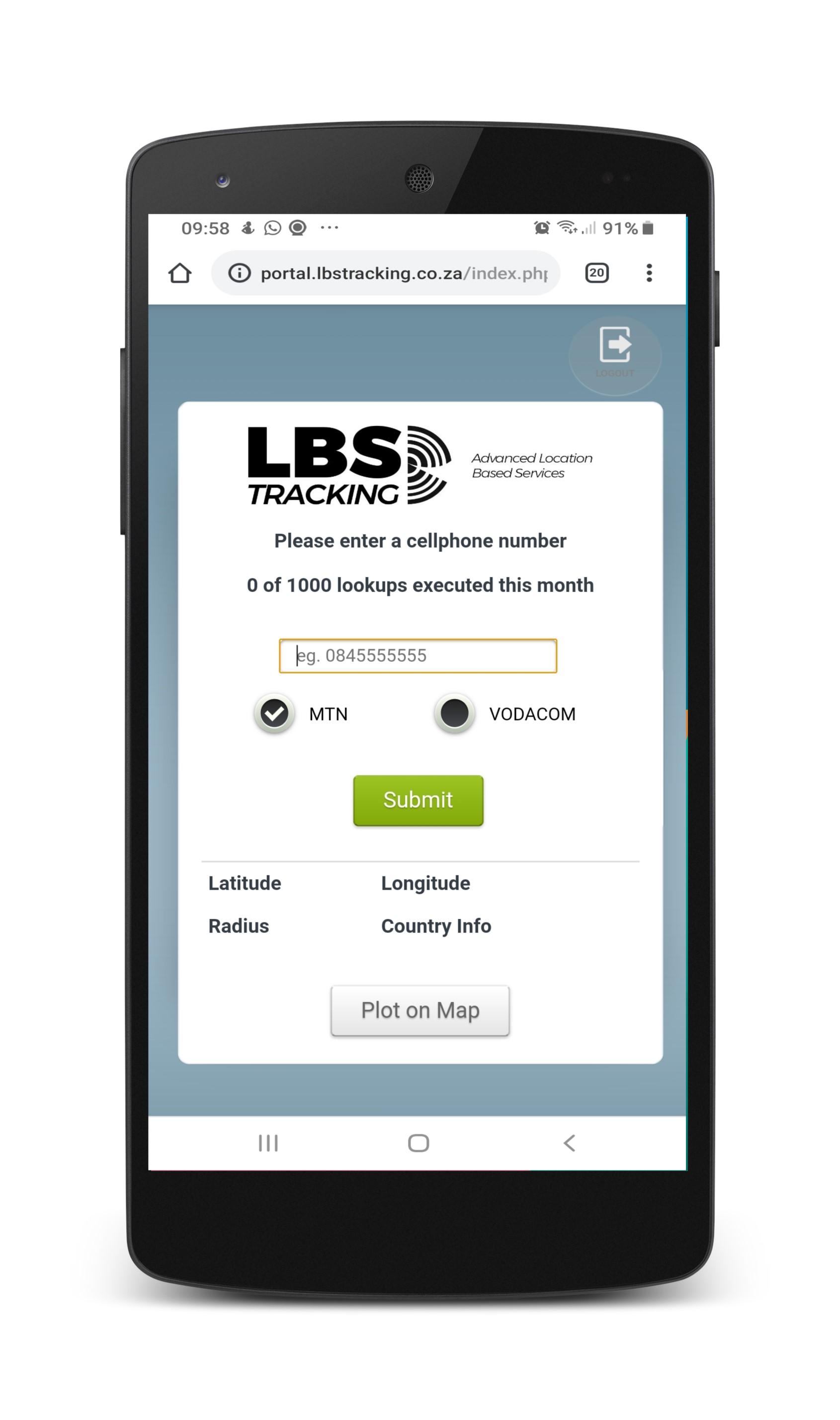 LBS Tracking SA Soft